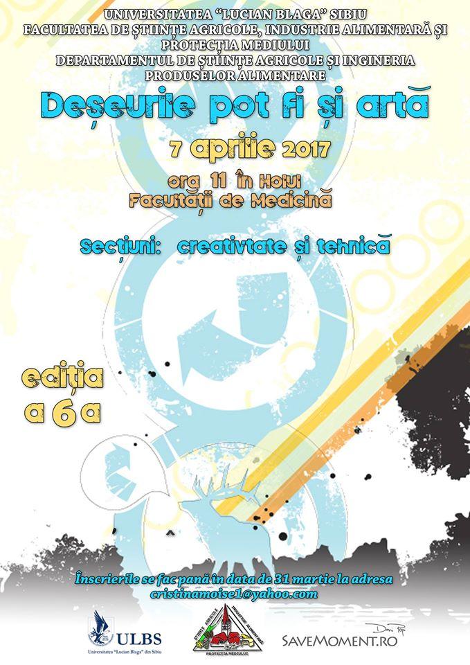 """Concursul """"Deșeurile Pot Fi și Artă"""" Ediția A VI-a"""